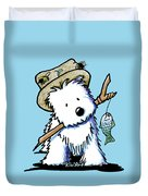Kiniart Westie Fisherman Duvet Cover