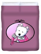 Kiniart Westie Glam Duvet Cover
