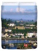 Kinsale, Co Cork, Ireland View Of Boats Duvet Cover