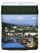 Kinsale, Co Cork, Ireland View Of Boats Duvet Cover