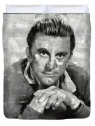 Kirk Douglas Hollywood Actor Duvet Cover