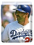 Kirk Gibson, Los Angeles Dodgers Duvet Cover