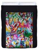 Kiss The Rainbow Duvet Cover