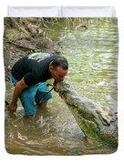 Kissing A Crocodile Duvet Cover