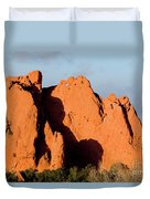 Kissing Camels Formation At Garden Of The Gods Duvet Cover