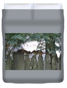 Kissing On A Fence Duvet Cover