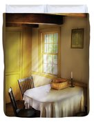 Kitchen - The Empty Basket Duvet Cover by Mike Savad