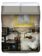 Kitchen - How I Bake Bread 1923 Duvet Cover