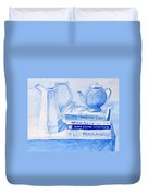 Kitchen In Blue Duvet Cover
