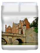 Kitchen Or Wren Bridge And St. Johns College From The Backs. Cambridge. Duvet Cover