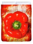 Kitchen Red Pepper Art Duvet Cover