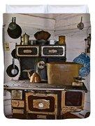 Kitchen Stove In Old Victoria-michigan  Duvet Cover