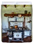 Kitchen - The Vintage Stove Duvet Cover