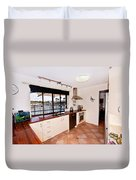 Kitchen With A River View Duvet Cover