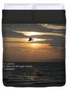 Kite Sunset - Haiku Duvet Cover