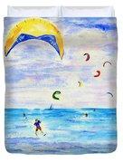 Kite Surfer Duvet Cover