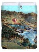 Kites At Bathsheba Duvet Cover