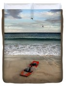Kitesurfing Duvet Cover by Stelios Kleanthous