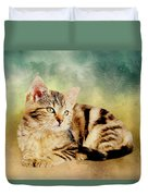 Kitten - Painting Duvet Cover