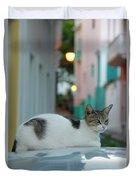 Kitten Reflections Duvet Cover