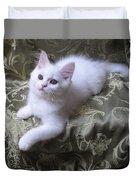 Kitten Snow White Silky Fur Duvet Cover