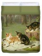 Kittens Playing Duvet Cover