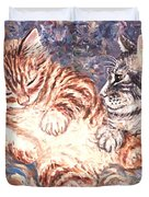 Kittens Sleeping Duvet Cover