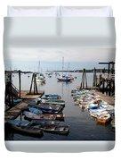 Kittery Point Fishing Boats Duvet Cover