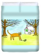 Kitty And The Mouse Duvet Cover