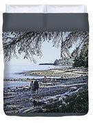 Kitty Colemans Beach - Bc Duvet Cover