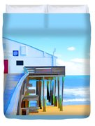Kitty Hawk Pier 2 Duvet Cover