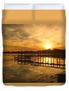 Kitty Hawk Sunset 2 Duvet Cover