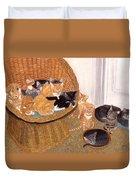 Kitty Litter I Duvet Cover