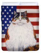 Kitty Ross Duvet Cover by Linda Mears