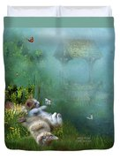 Kitty Wishes Duvet Cover