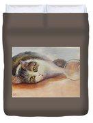 Kitty With Spilled Milk Duvet Cover