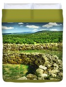 Kiva And View Pecos Ruins New Mexico Duvet Cover