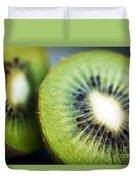 Kiwi Fruit Halves Duvet Cover by Ray Laskowitz - Printscapes