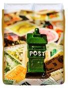 Kiwi Postage Scene Duvet Cover
