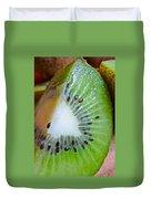 Kiwi Seed Display Duvet Cover