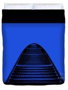 Kk100 Shenzhen Skyscraper Art Blue Duvet Cover