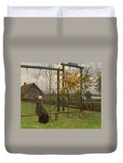 Klever, Yuli The Younger 1882-1942 Autumn Twilight Duvet Cover