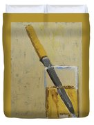 Knife In Glass - After Diebenkorn Duvet Cover