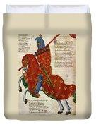 Knight, 14th Century Duvet Cover