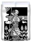 Knight Of Arthur, Preparing To Go Into Battle Duvet Cover