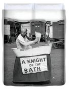 Knight Of The Bath Duvet Cover
