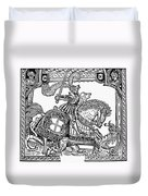 Knights: English, 1527 Duvet Cover