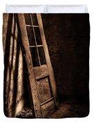 Knockin' At The Wrong Door Duvet Cover by Evelina Kremsdorf
