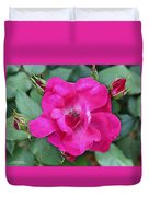 Knockout Rose Surrounded By Buds Duvet Cover