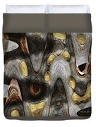 Knot In Old Board Abstract Duvet Cover